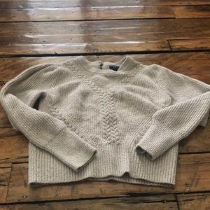 Abercrombie & Fitch cream sweater